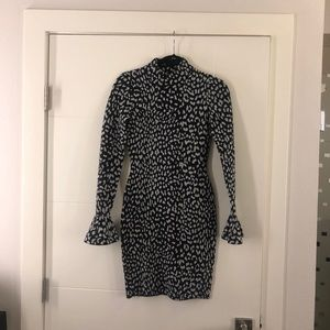 Michael Kors Flare Sleeve Cheetah Dress